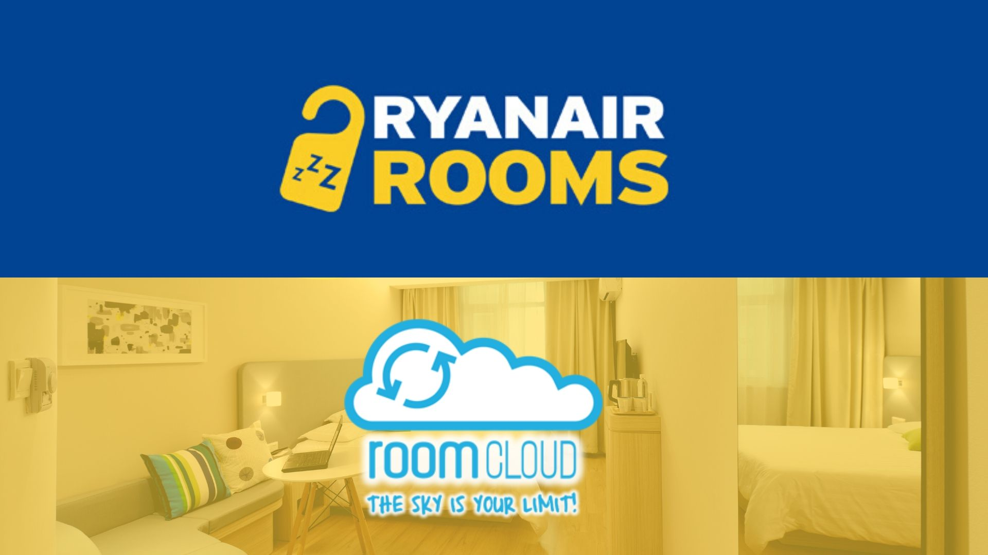 RoomCloud is integrated with Ryanair Rooms