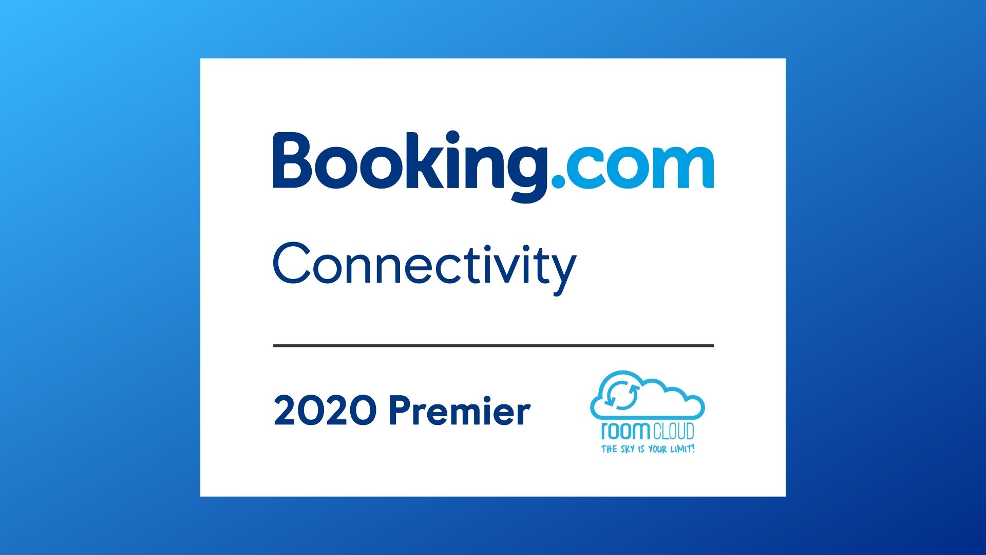 We are Booking.com Premier Partners for 2020!