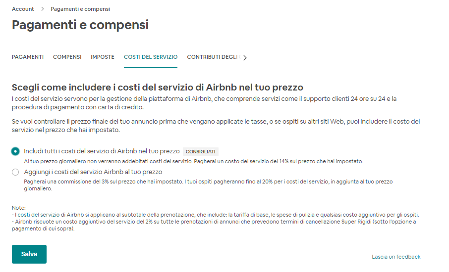 Airbnb extranet