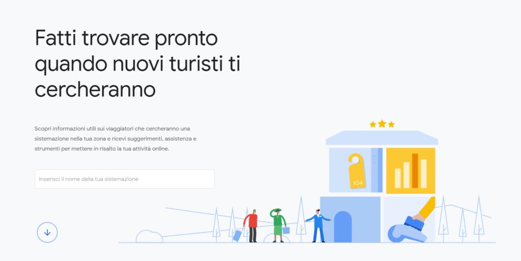 Google Hotel Insights homepage