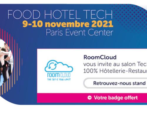 RoomCloud vous attend au Food Hotel Tech 2021 à Paris